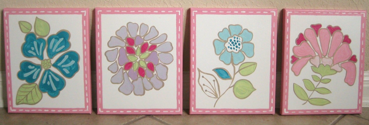 Bright Blooms, 8x10 (set of 4)