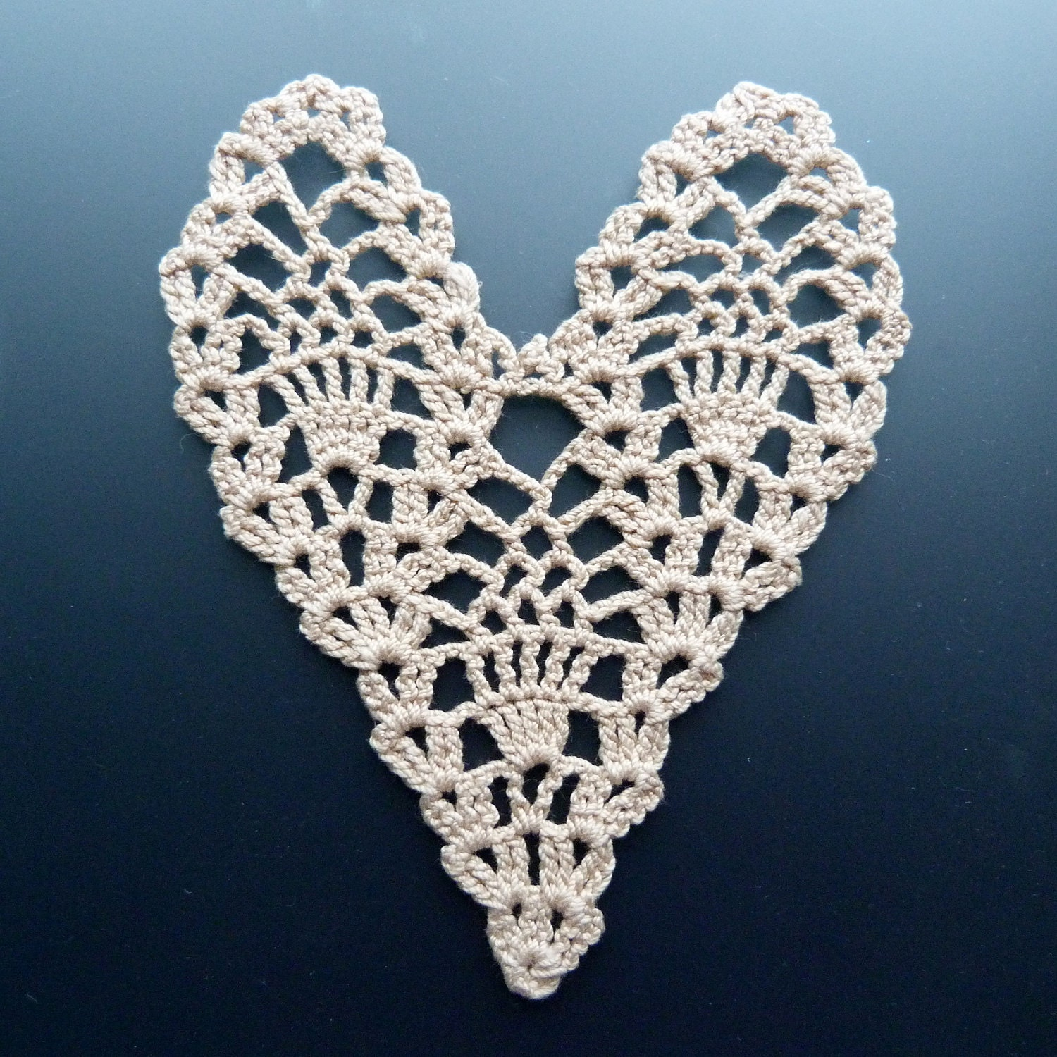 Crocheted Doily - The Heart