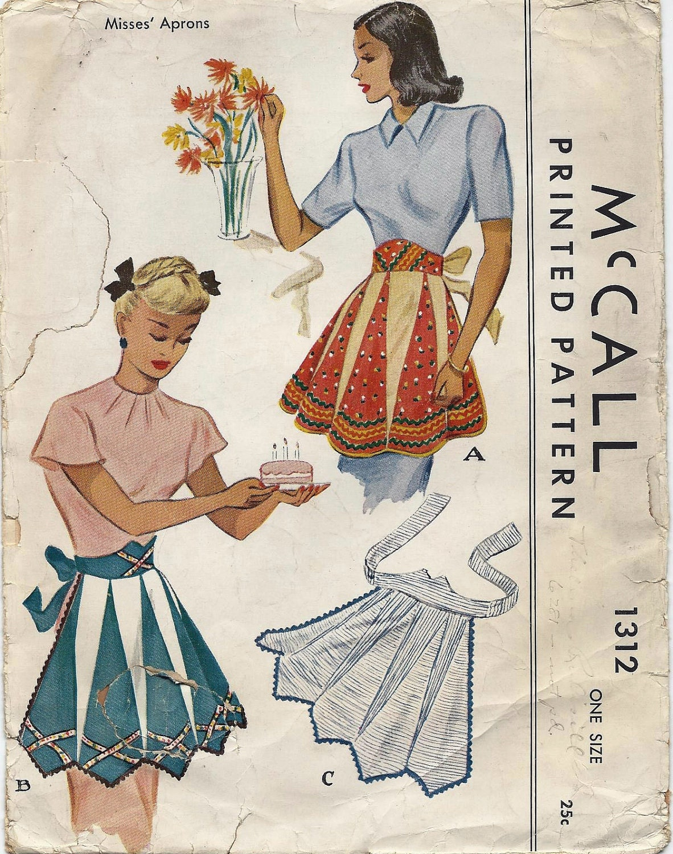 30 Free Vintage Apron Patterns SEWING Pinterest Vintage 41