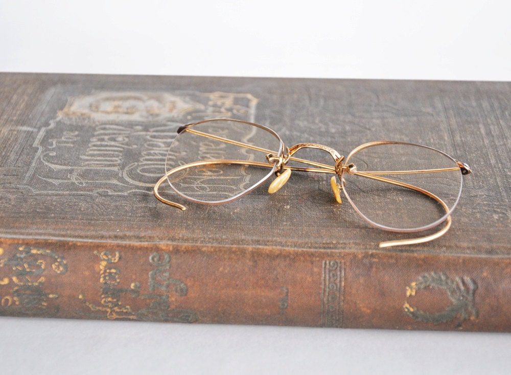 Vintage Eyeglass Wire Frames : Vintage Wire Frame Eyeglasses Antique Spectacles Old by ...