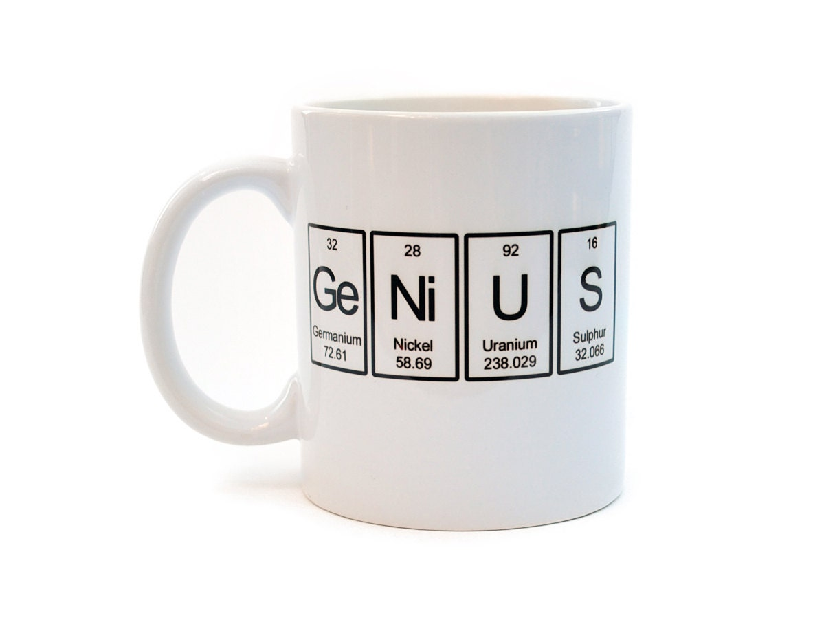 Genius Mug Periodic Table Of Elements By Neuronsnotincluded