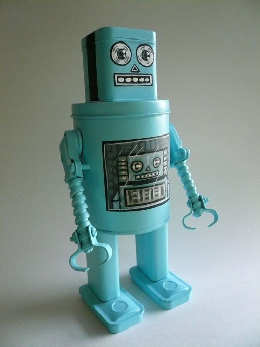 robot rorybot found object sculpture