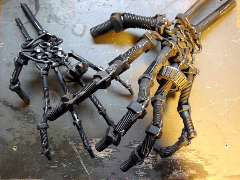 handmade original metal art brutalist by thebeardedwelder