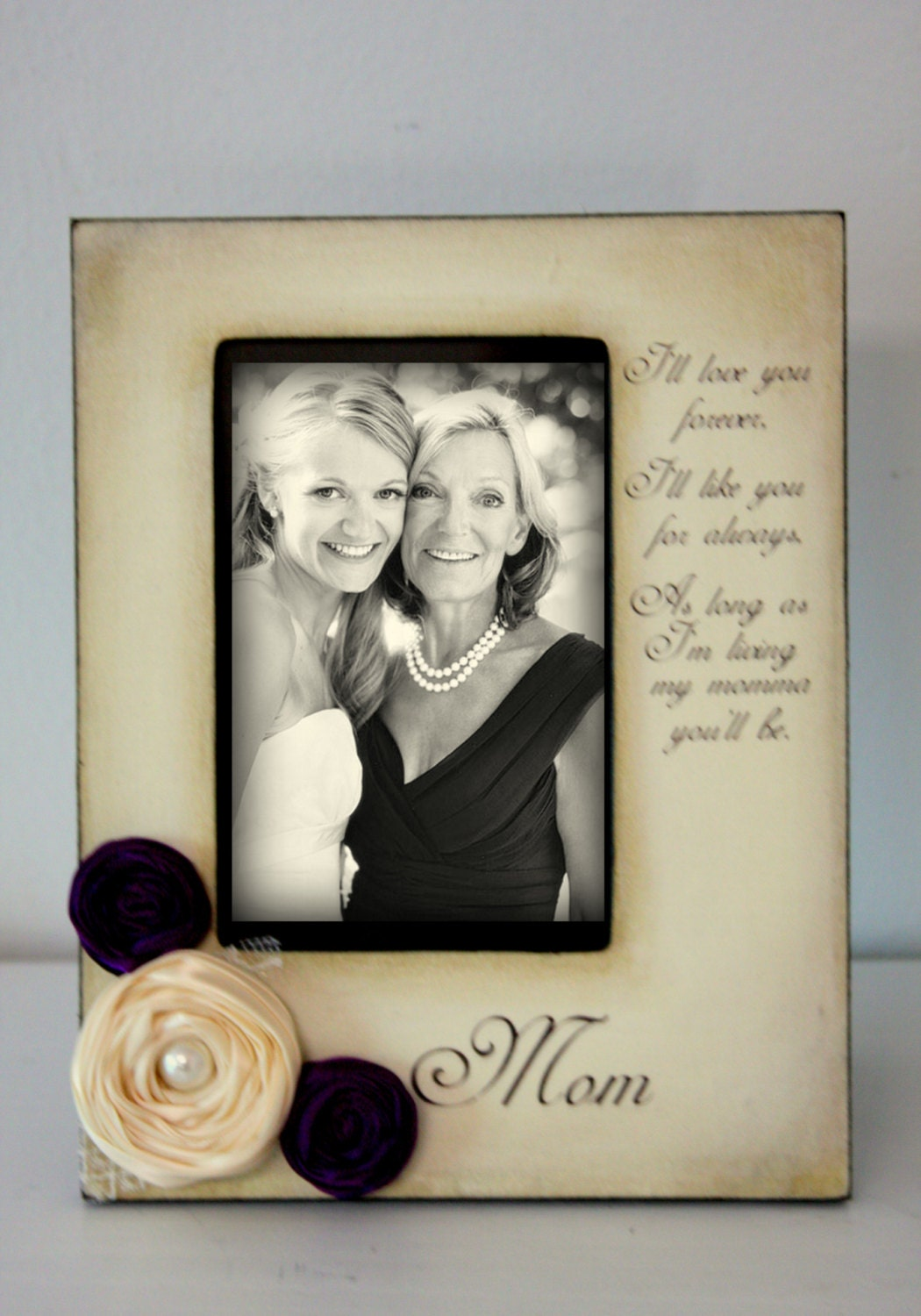 Wedding Gift Ideas From Parents To Daughter : Mother Daughter Son Wedding Frame Gift Bride by DeSiLuCoLLecTioN