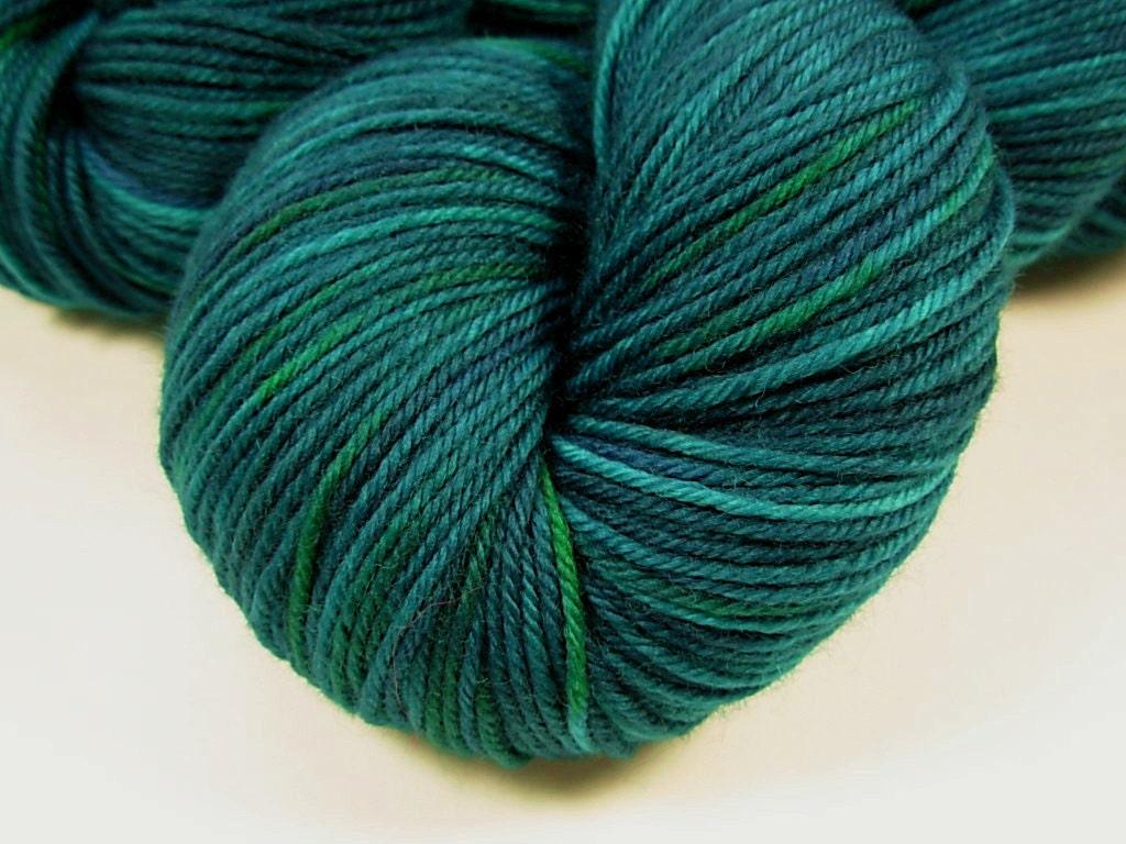 Sport Weight Yarn : Sport Weight Superwash Merino Wool Yarn, Hand Dyed - Deep Sea Tonal
