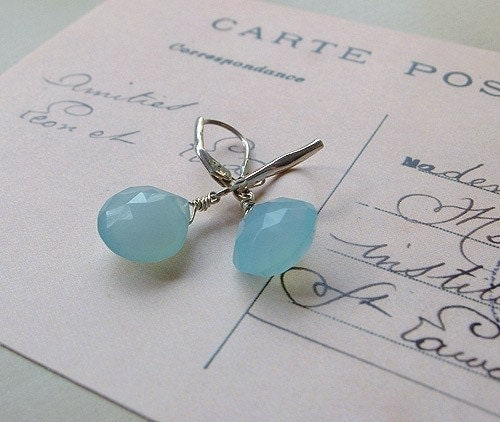 Lagoon Chalcedony Drop Earrings