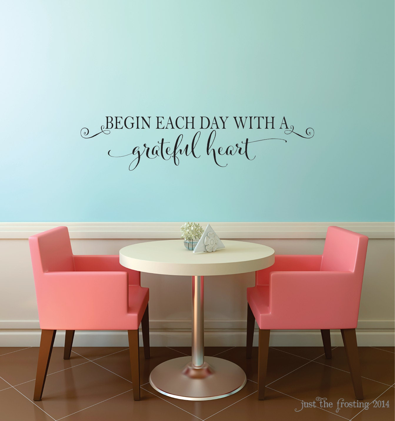 Begin each day with a grateful heart vinyl by justthefrosting for A bathroom item that starts with e