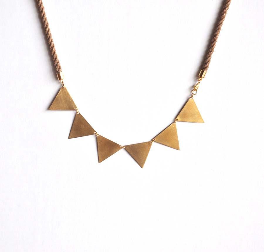 Golden bunting necklace v2