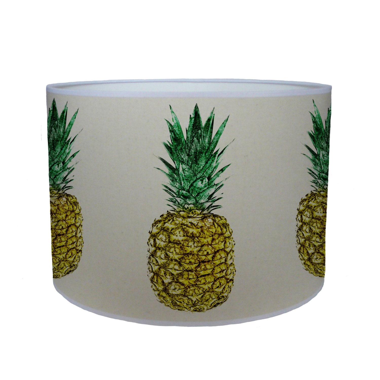 Pineapple shade lamp shade ceiling shade drum lampshade lighting handmade home
