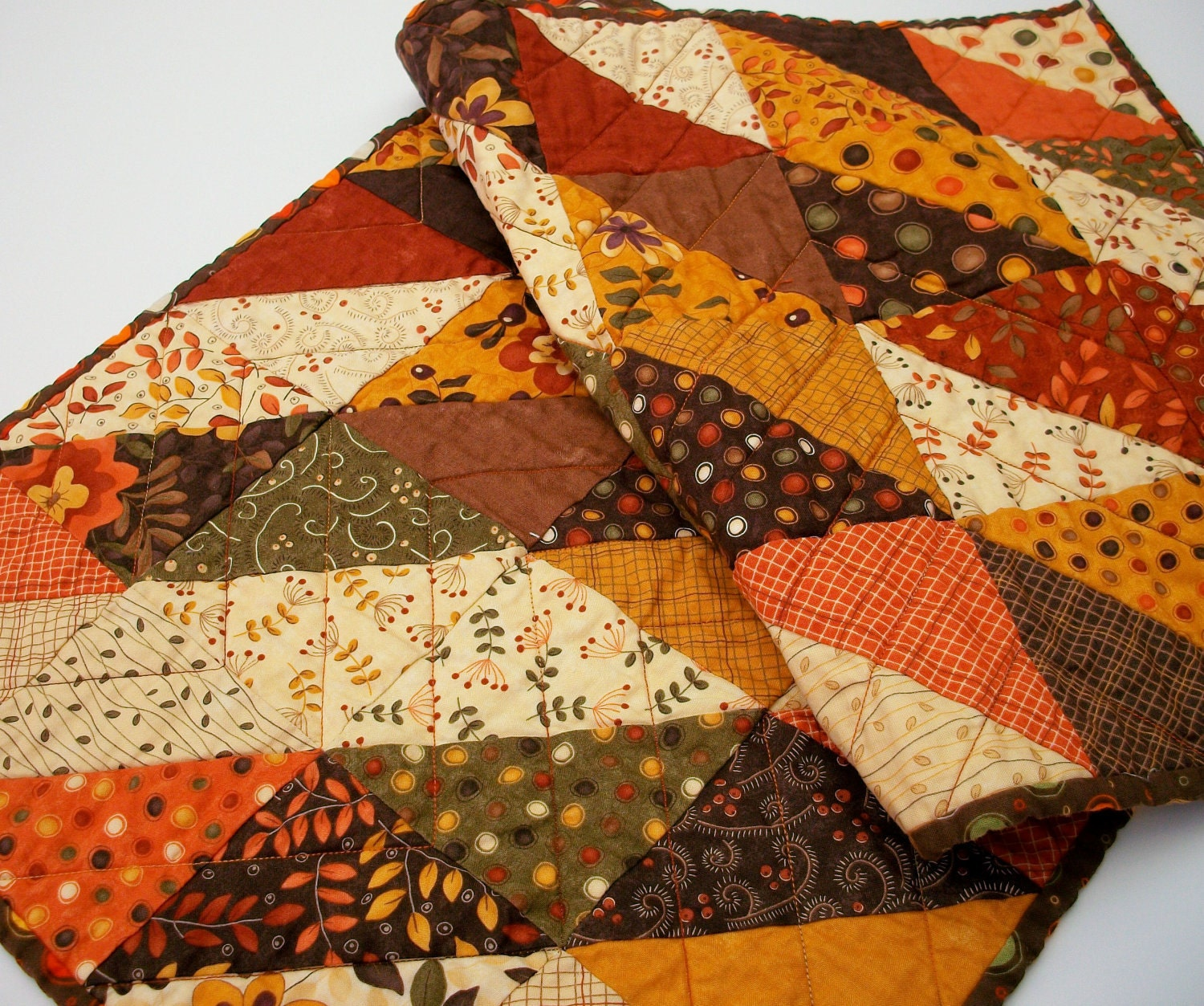 Autumn Hues Handmade Quilted Table Runner