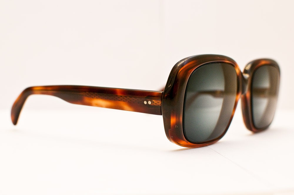 Vintage Unisex 1970s Glasses:  Tortoise Shell Statement Eyewear