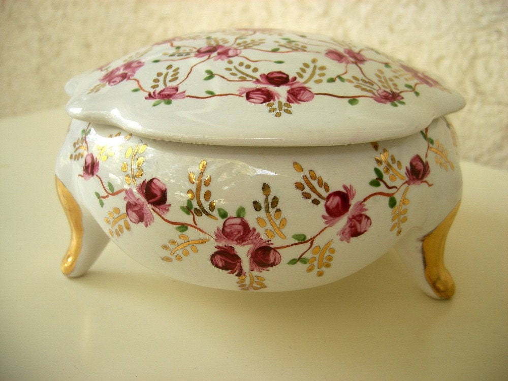 Handpainted Porcelain Sugar bowl decorated with by ShebboDesign from etsy.com
