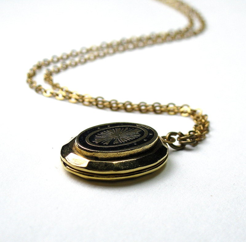 Vintage Necklace, Vintage Jewelry, Locket, 1950's