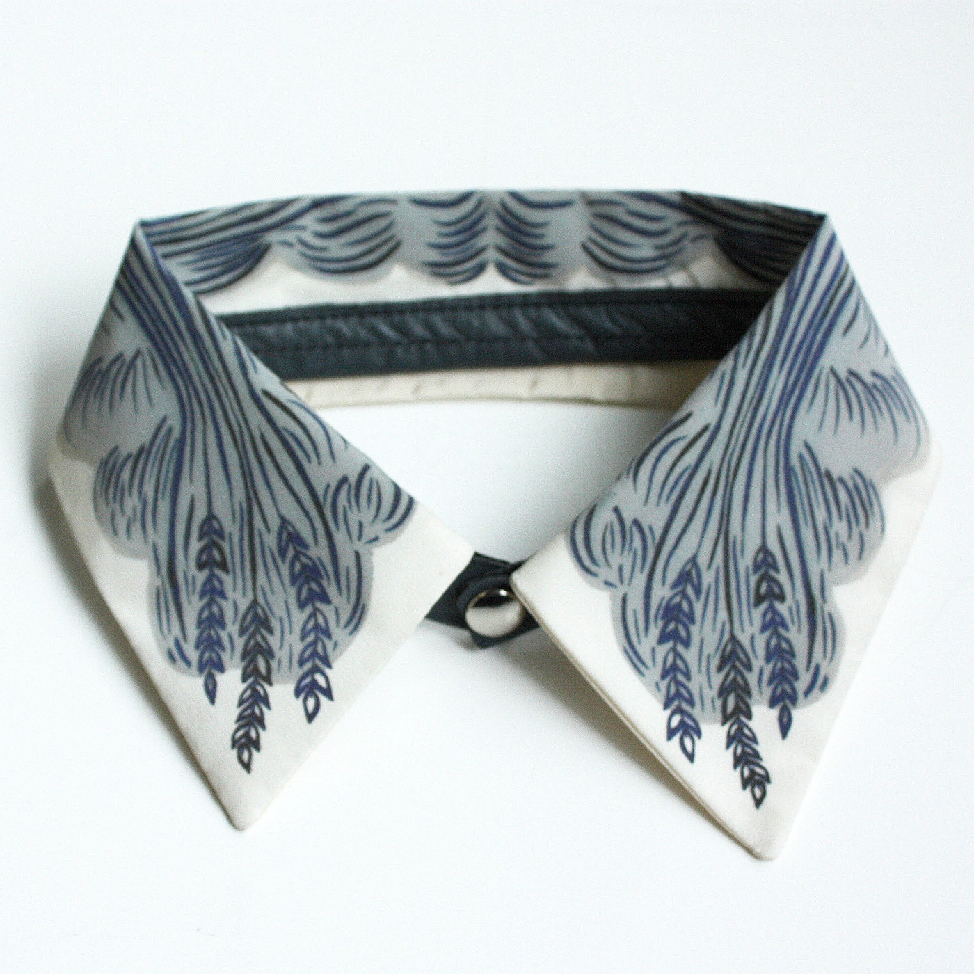 "Detachable Silk Shirt Collar - ""Wheat"" -  Jen Storey Collaboration"