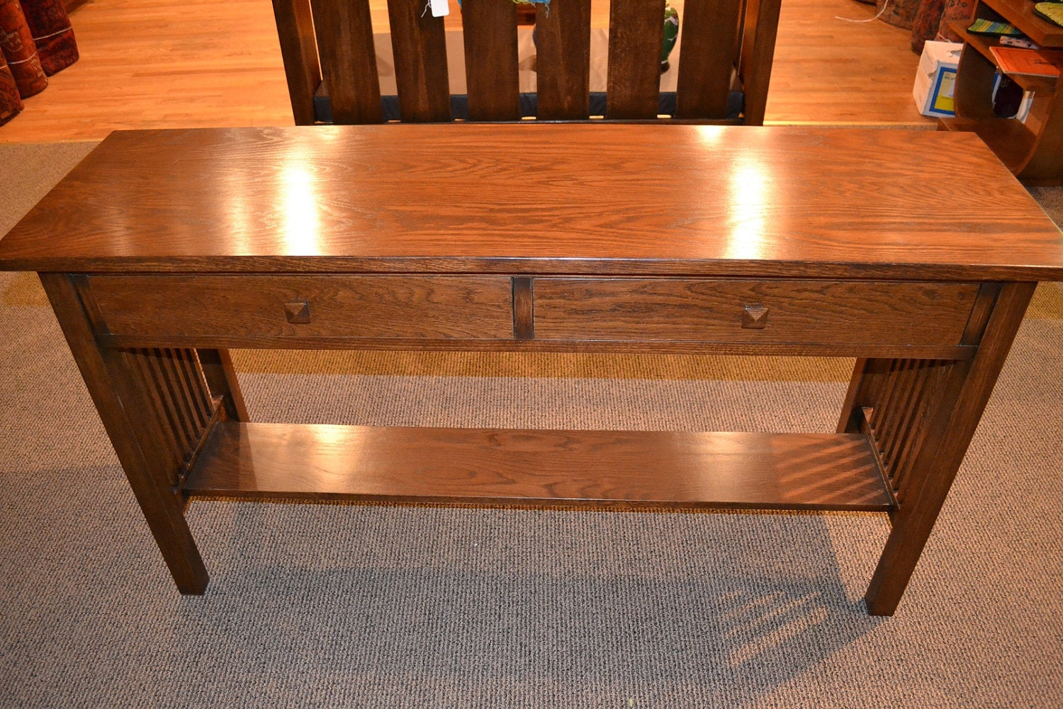 Items similar to arts and crafts mission oak console table for Arts and crafts sofa table