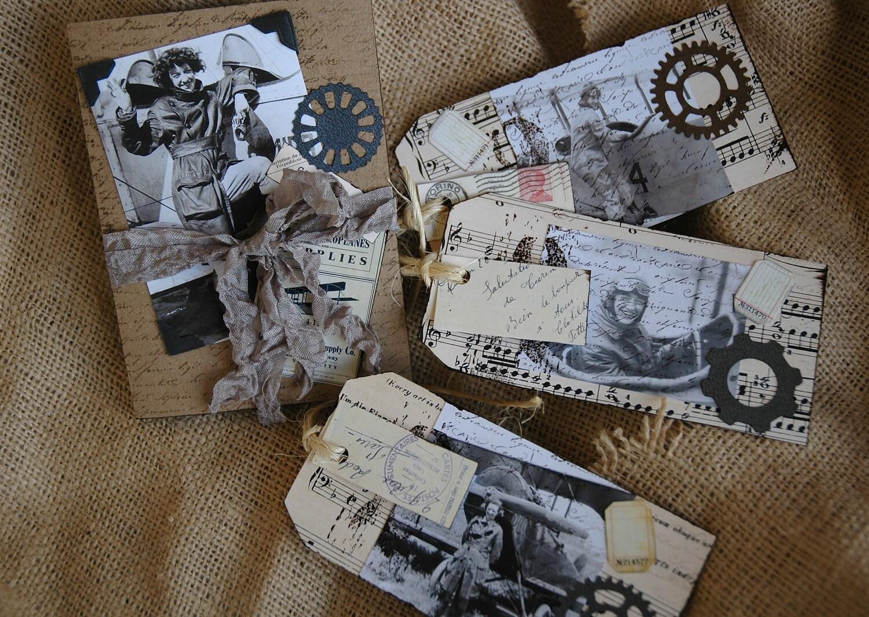 Aero Теги с Paquette, Синди Эдкинс, Ее Причудливая Размышления на Etsy, декоратор теги, Париж квартиры, винтажном стиле