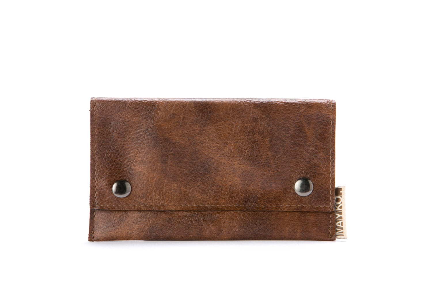 Brown tobacco pouch, tobacco case - maykobags