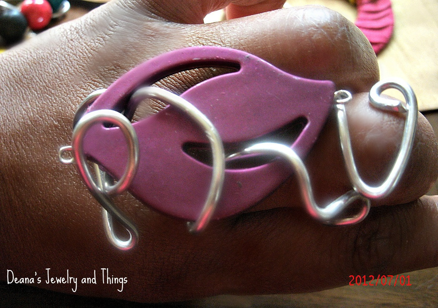 Unique Purple Wrapped Adustable Ring