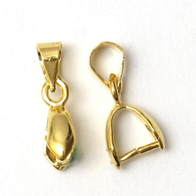 sale 50 pcs gold necklace bail enhancer by mixnmatchsupplies