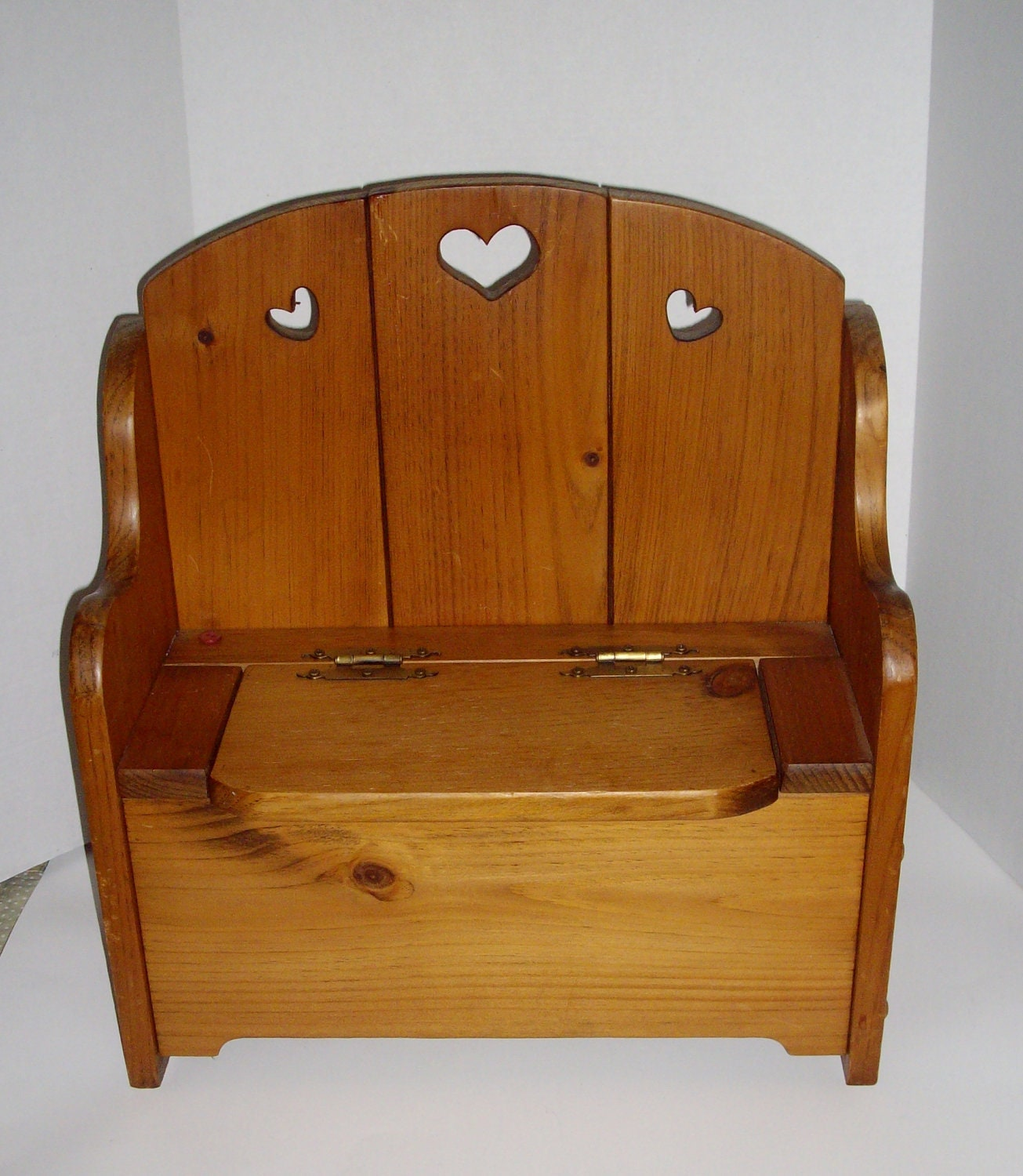 vintage wooden doll bench pine doll furniture by nannasthings