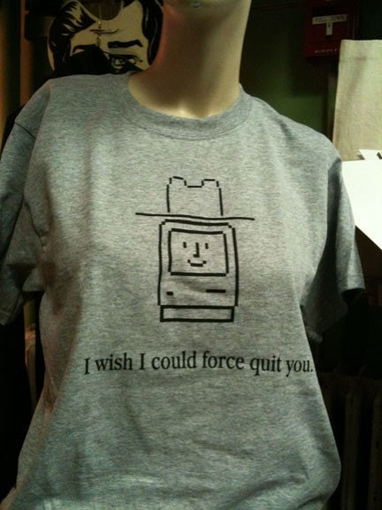 I Wish I could Force Quit You  Mac  OSX tee shirt