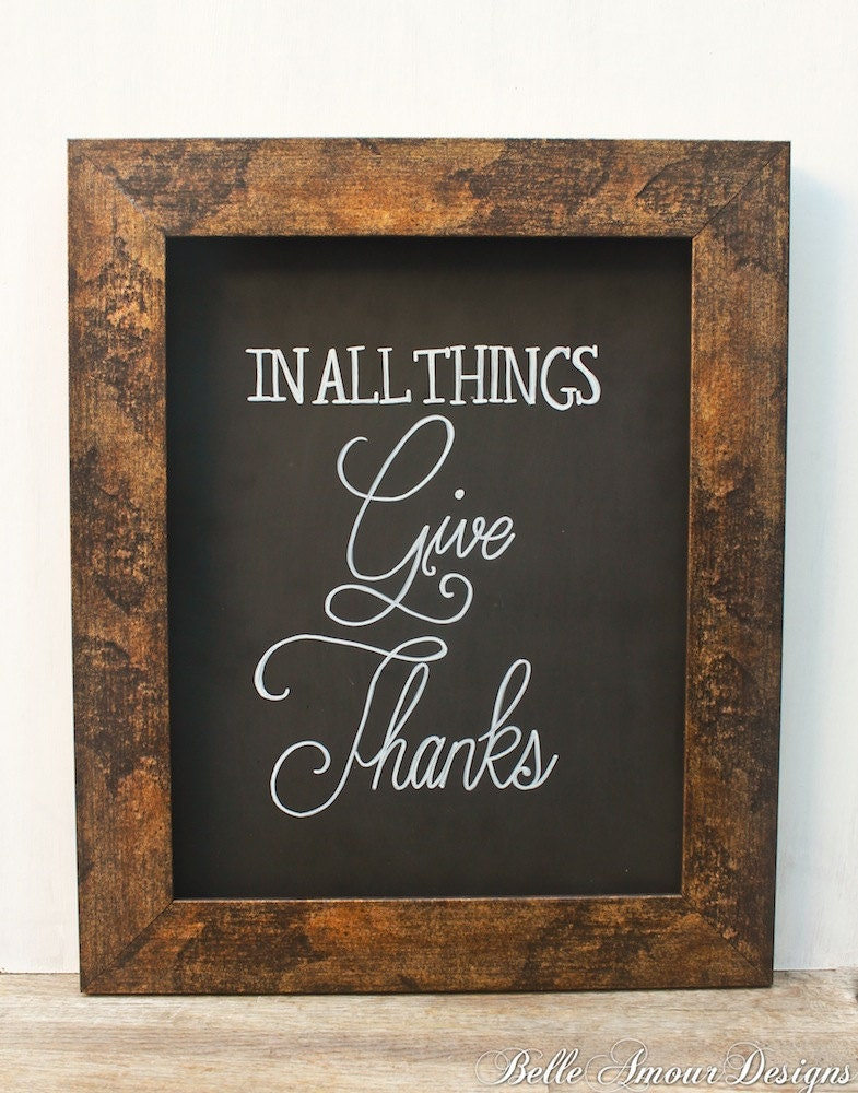 """Items similar to Fall Decor Chalkboard Sign - """"In All ..."""