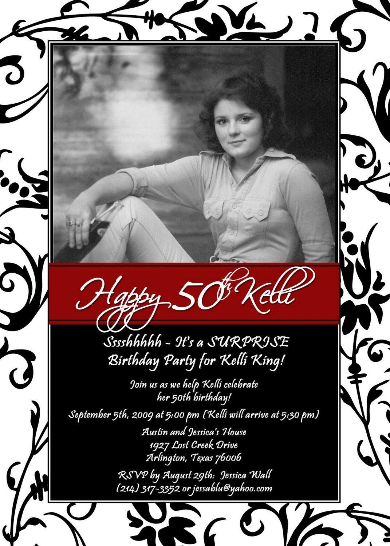 Free Printable 50th Birthday Invitation Cards | Invitationjpg.com