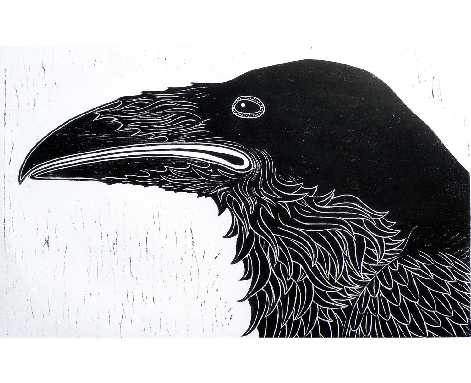 Raven (Woodblock Print) wall art