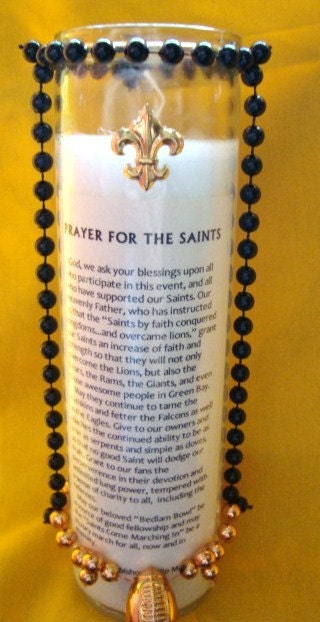 New Orleans Saints Candle with Official Prayer