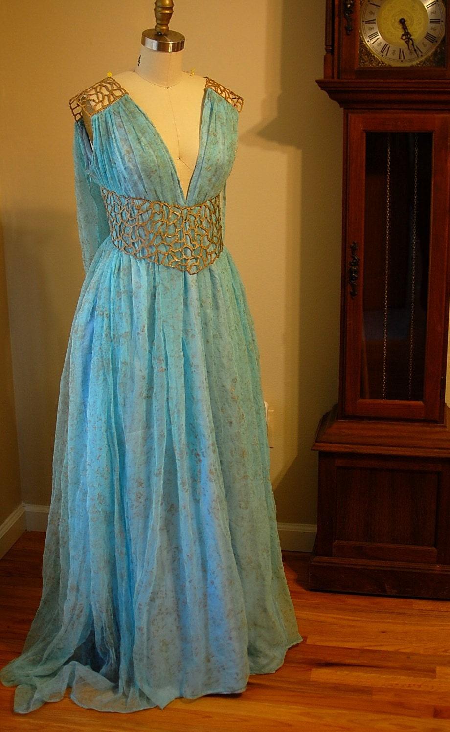 Khaleesi Costume Blue Dress | www.imgkid.com - The Image ...