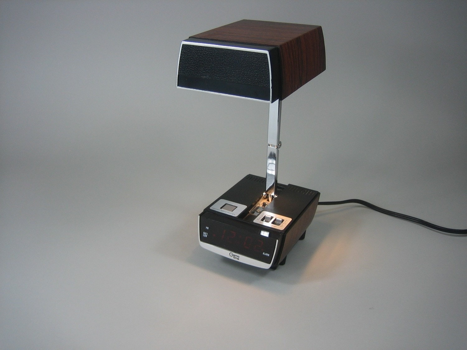 Cosmo Time Folding Lamp and Alarm Clock by avantgarage on Etsy from etsy.com