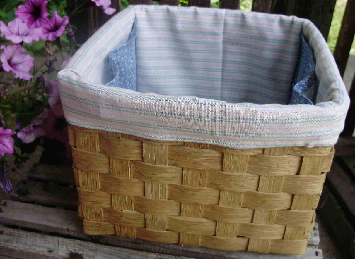 Handmade Basket and Liner with Pockets