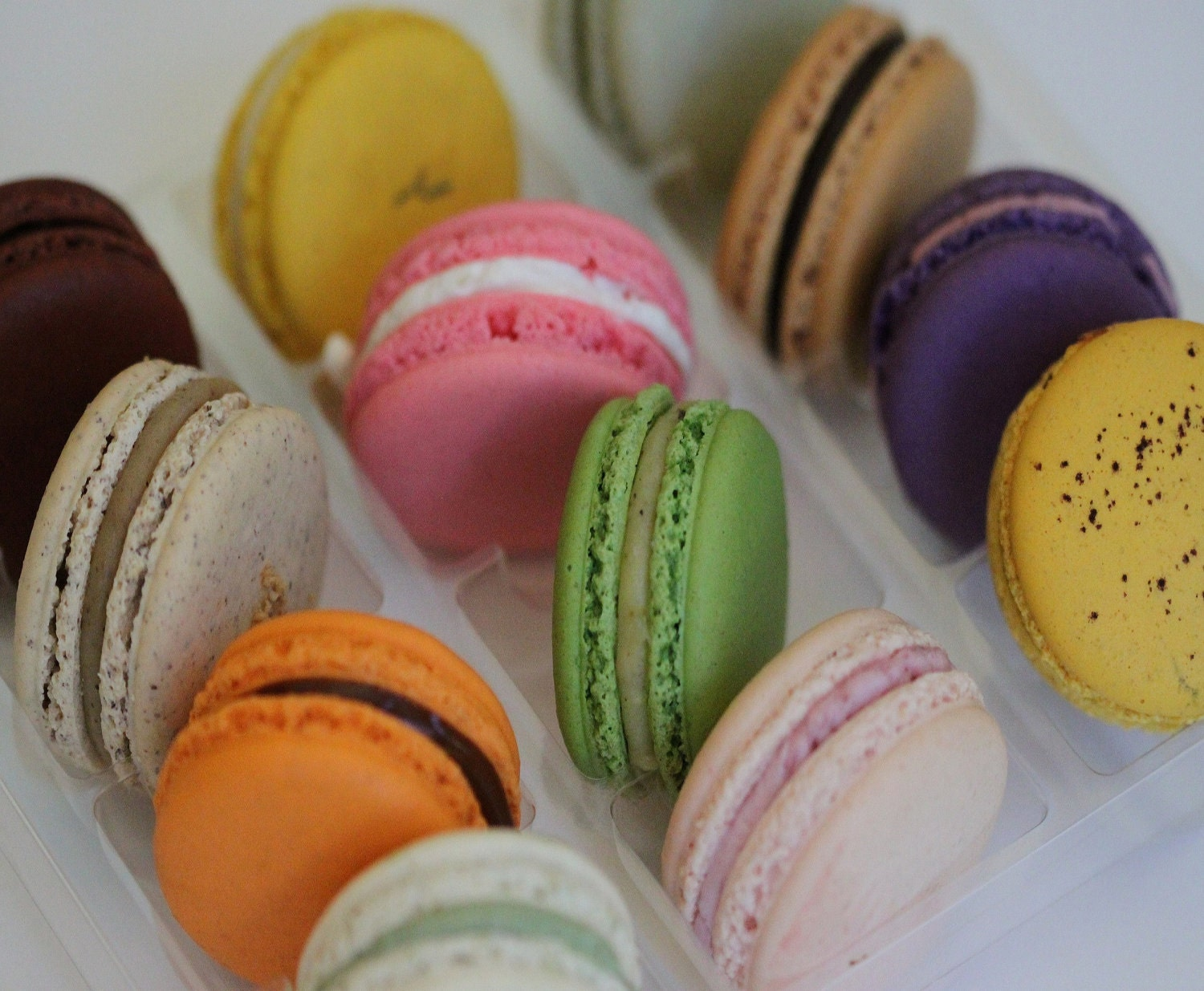 Premium Authentic French Macarons - Twelve piece box - nicoleleechocolates