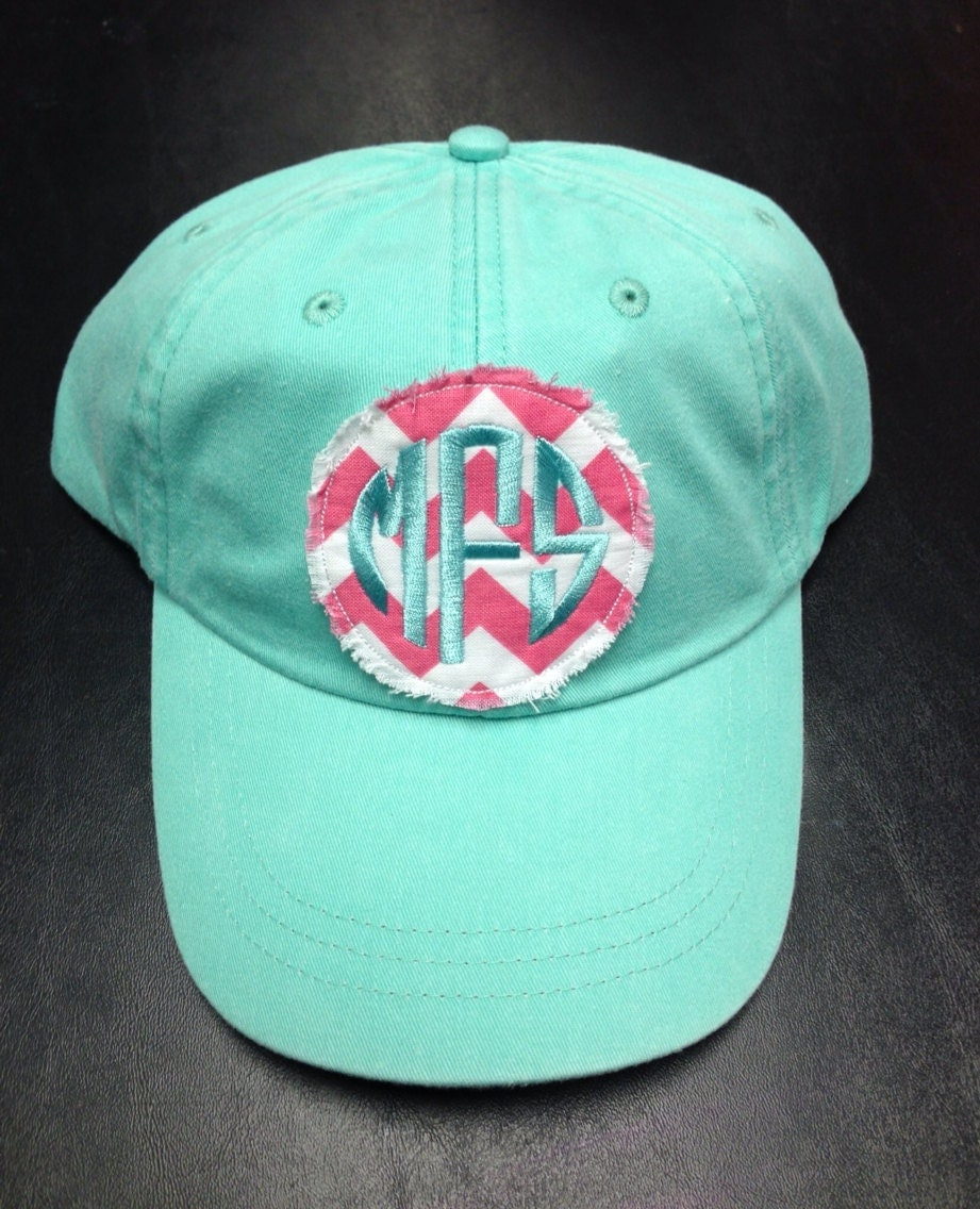 preppy monogrammed baseball hat by christylous on etsy
