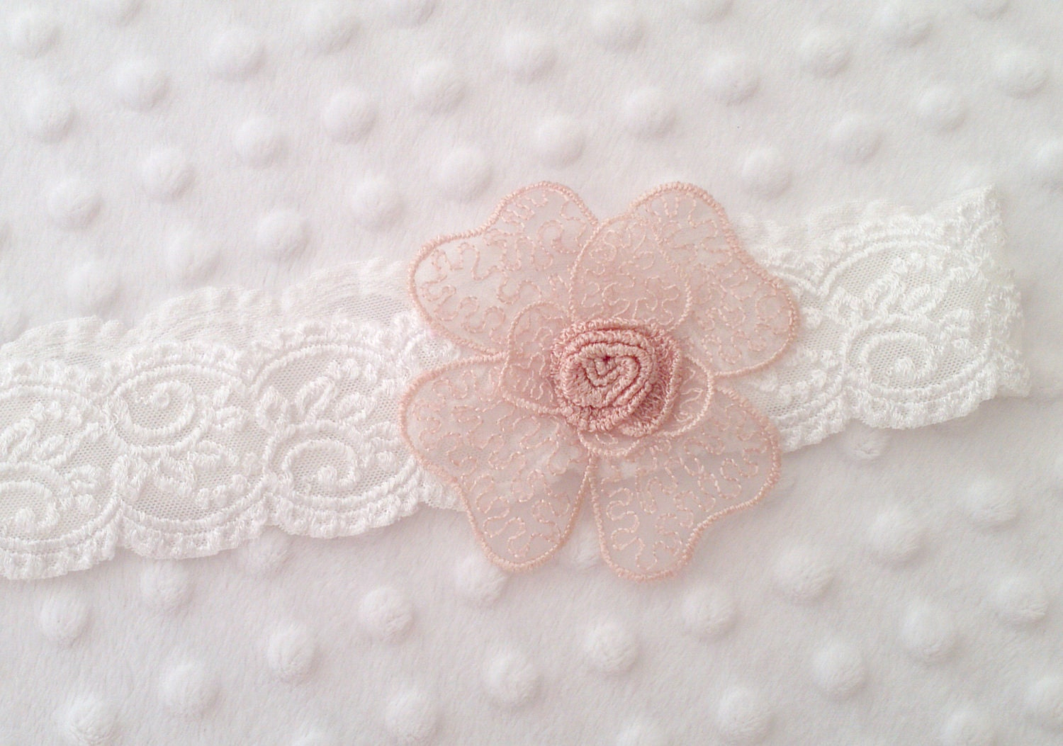SPRING SALE - Scalloped Stretch Lace Headband - CamiGBoutique