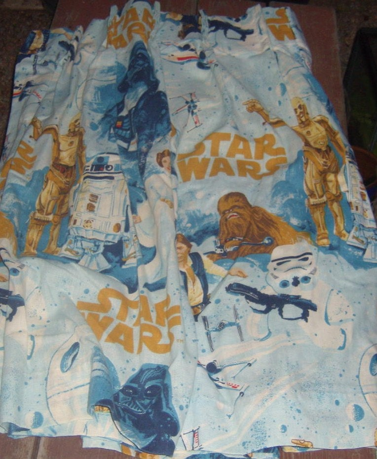vintage star wars starwars panels curtain by. Black Bedroom Furniture Sets. Home Design Ideas
