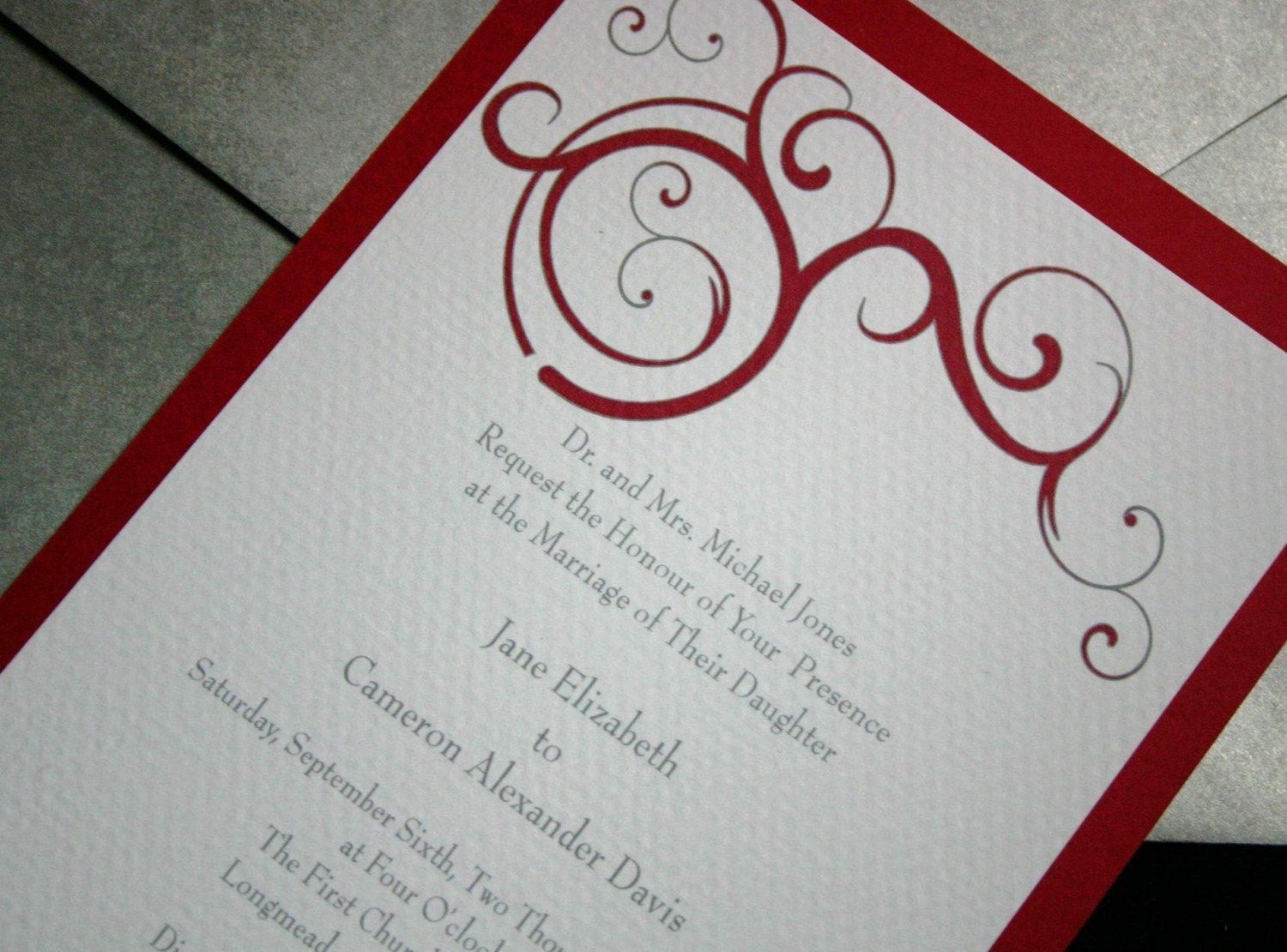 Scroll Wedding Invitation Sample Set