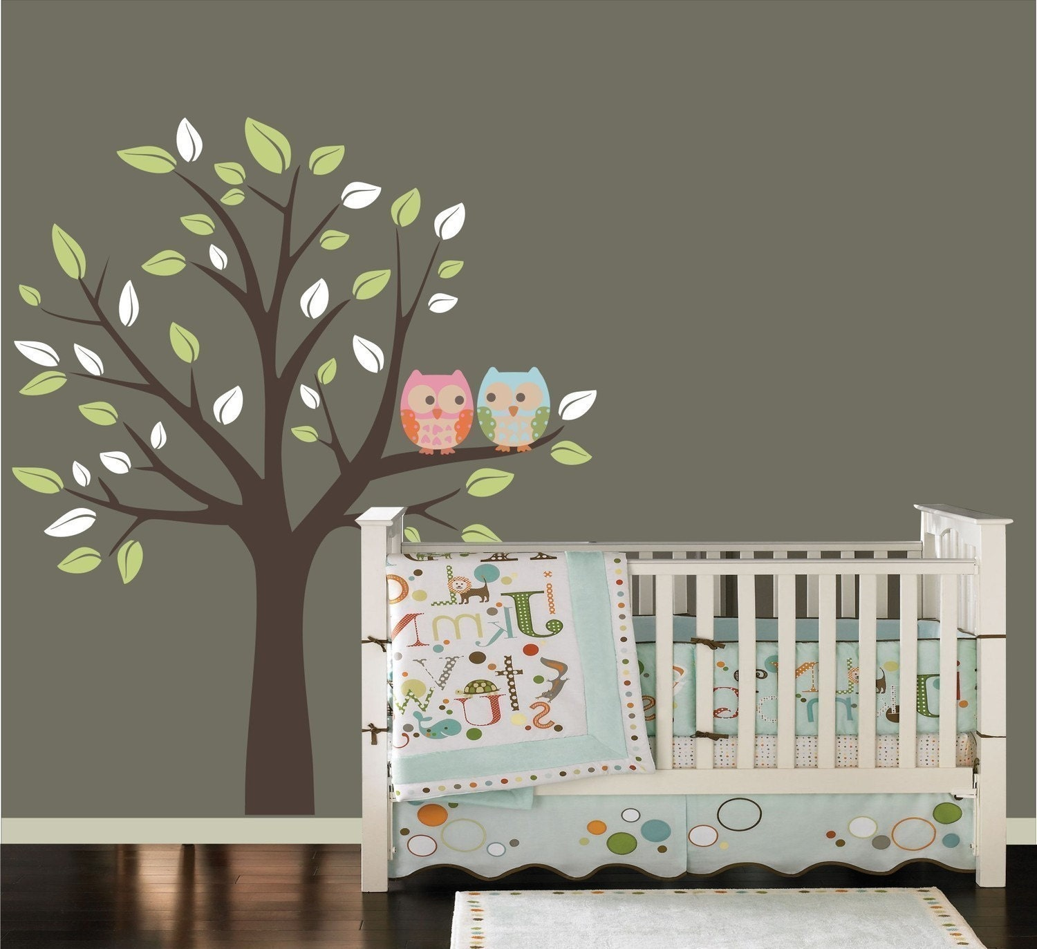 New Design Owls on a Tree - Boy Girl Nursery Decals