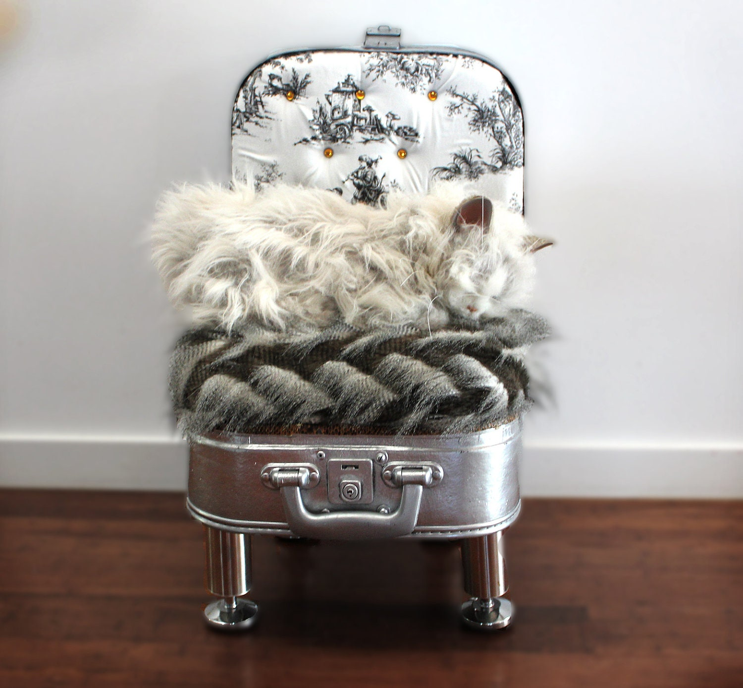 Items similar to unique luxury pet bed suit small dog or - Designer pet beds small dogs ...