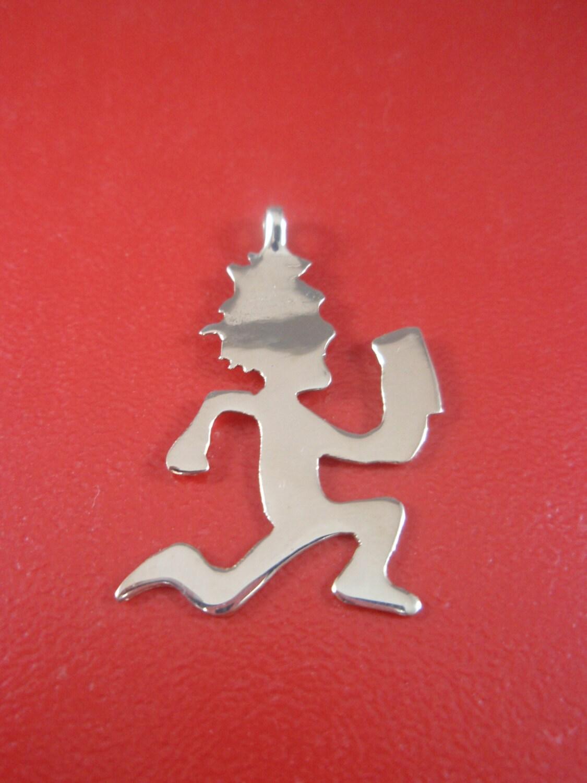 14k yellow gold hatchet pendant charm hatchetman by