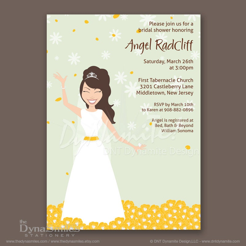 Bouquet Field Bride - Bridal Shower Invitations
