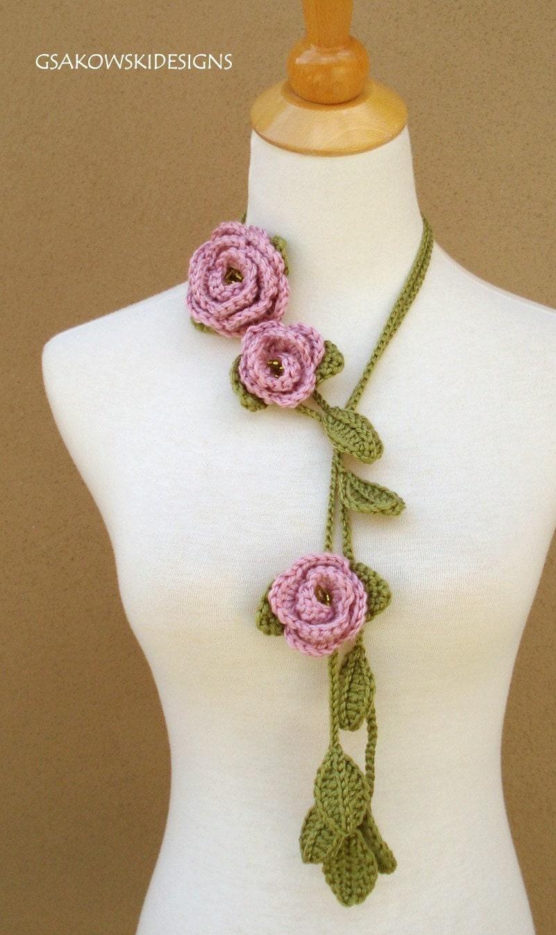 Rose Lariat- Rose Blush