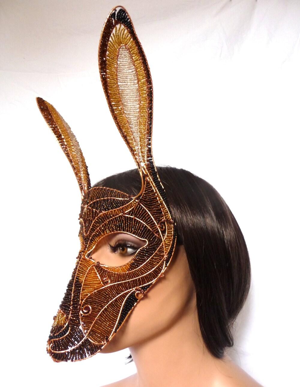 Hare masquerade mask, womens, costume, accessories