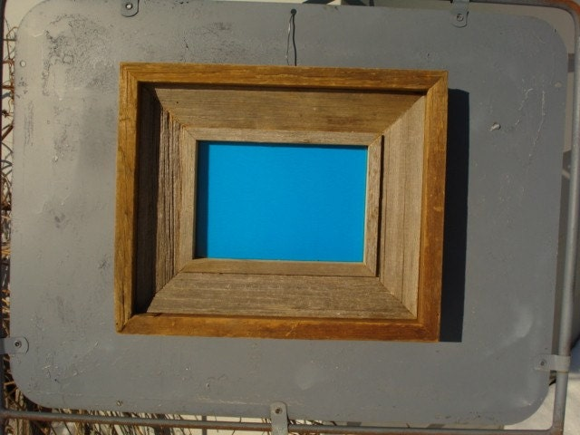 Rustic Iowa barn wood picture frame