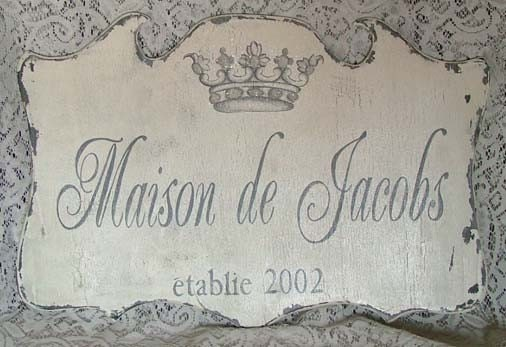 Custom Family sign FRENCH Crown handpainted