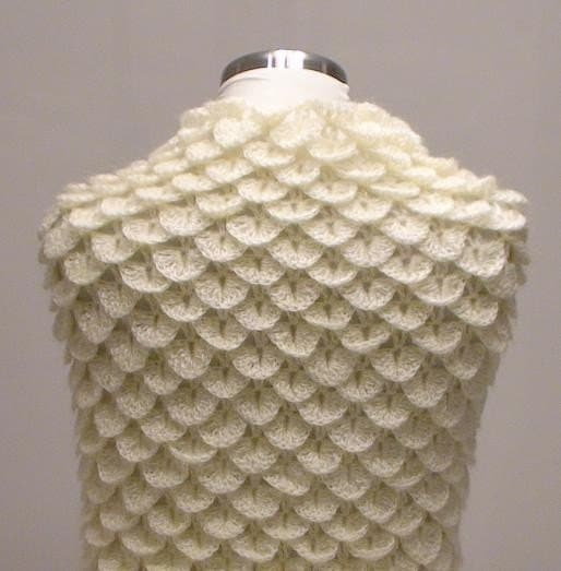 EXPRESS DELIVERY...Crocodile Mohair Shawl... Holiday Gift for her
