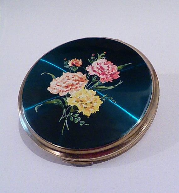 Vintage powder compact compact mirrors 1960s enamel Stratton Convertible powder compact Stratton for sale wedding gifts bridesmaids gifts