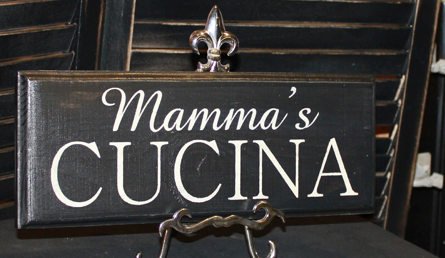 Mamma 39 s cucina sign great mother 39 s day by thegingerbreadshoppe for Italian kitchen gifts