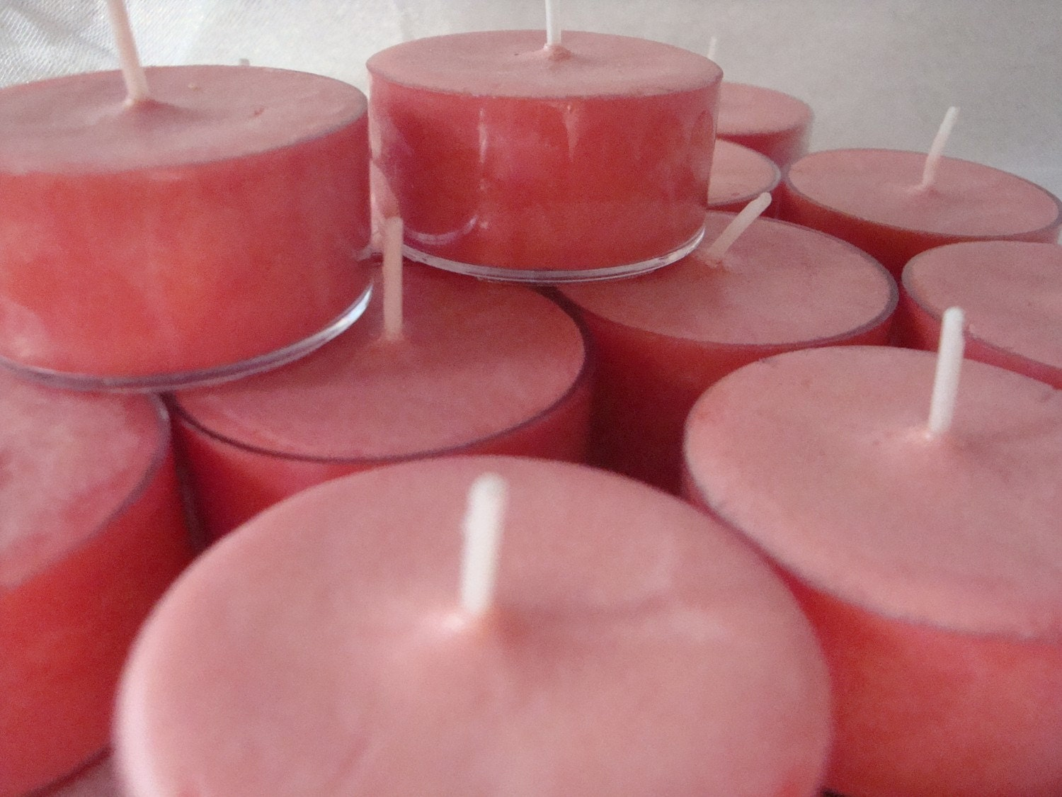 Watermelon soy tealights (12)