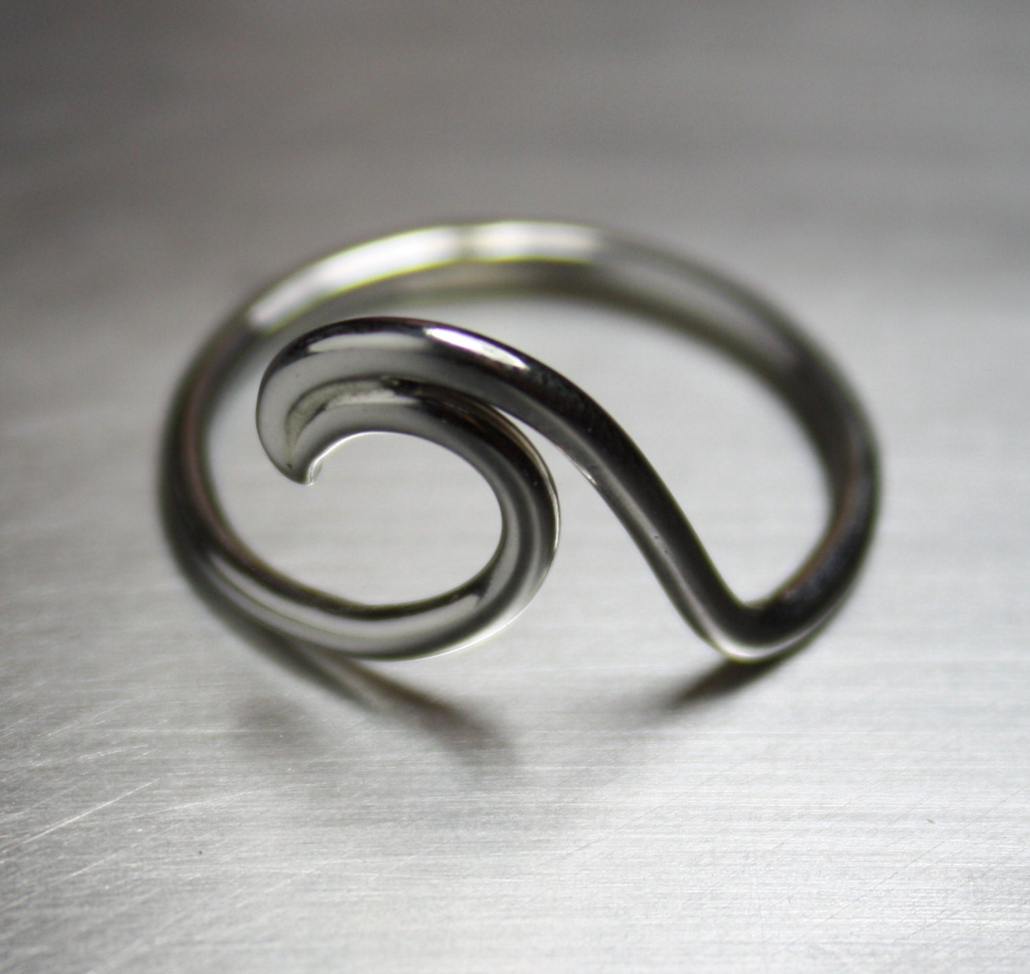 wave ring silver wave ring surfer ring surf by jenniferwood
